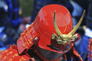 Japanese helmet for cover